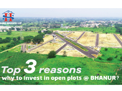 invest in open plots at Bhanur